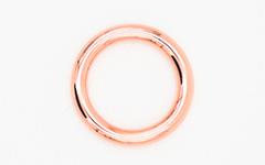 Hundehalsband - O-Ringe - Farbe: Roségold
