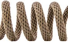 Hundehalsband - Tau - Farbe: Tan