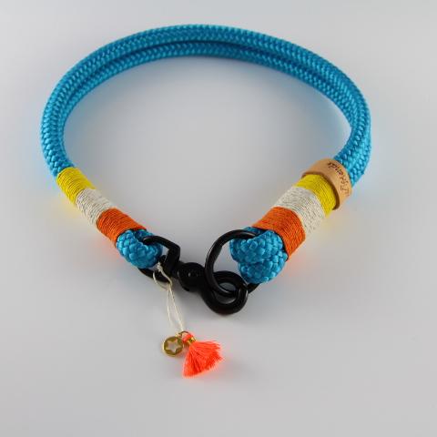 Tauhalsband-ozeanblau-orange-silber-metallic-gelb