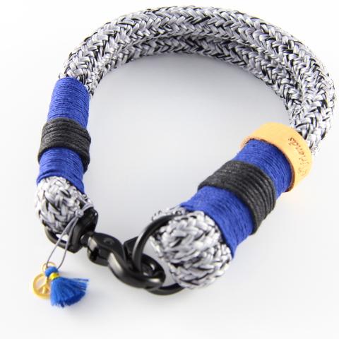 Tauhalsband-grauschwarz-dunkelblau-schwarz