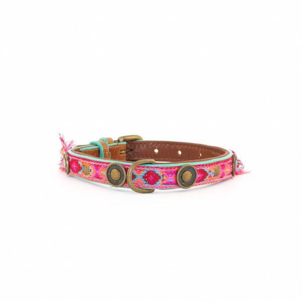 Hundehalsband-dwam-Boho Rosa 2cm