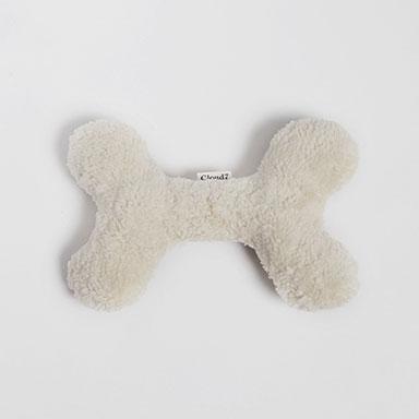 Hundespielzeug-cloud7-LoveBone-Weiß-Plüsch