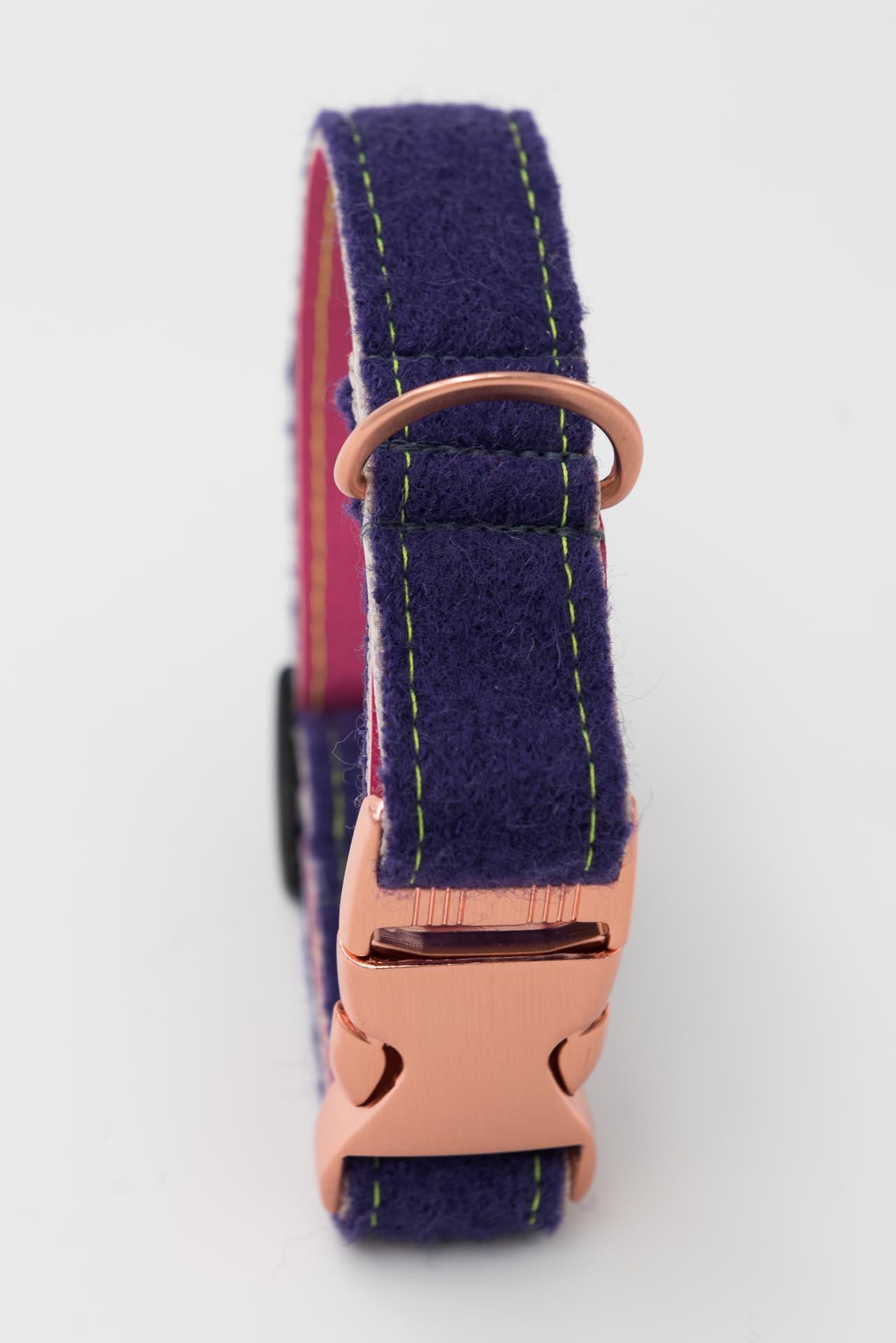 Hundehalsband-produkt-loden-kunstleder-lila-rosa