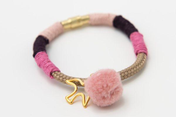 Armband-tan-pink-plum-powderpink