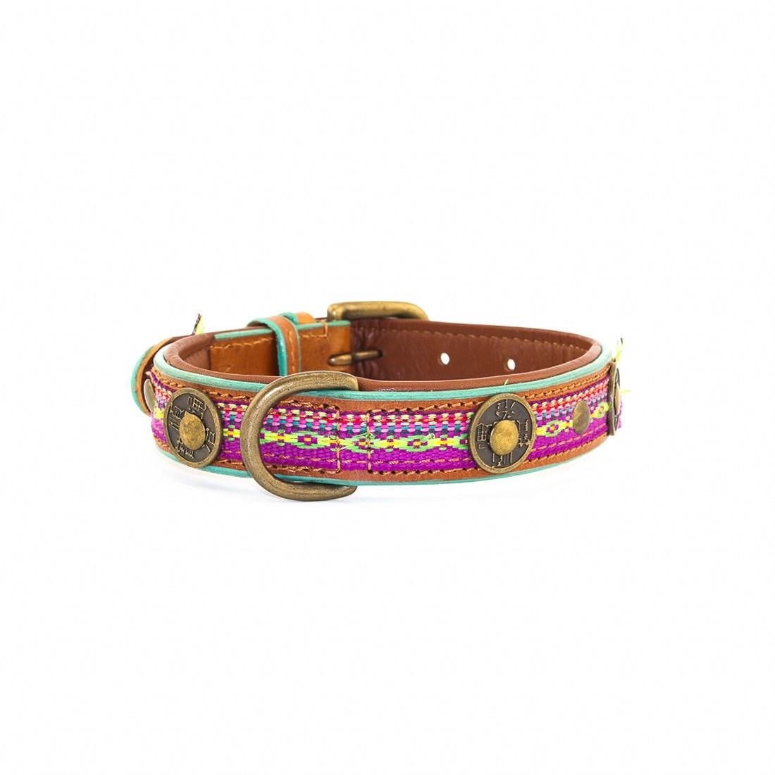 Hundehalsband-dwam-Summer Grape 2,5 cm