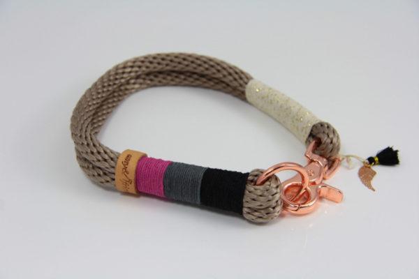 Tauhalsband-amy-and-friends-tan-schwarz-dunkelgrau-pink