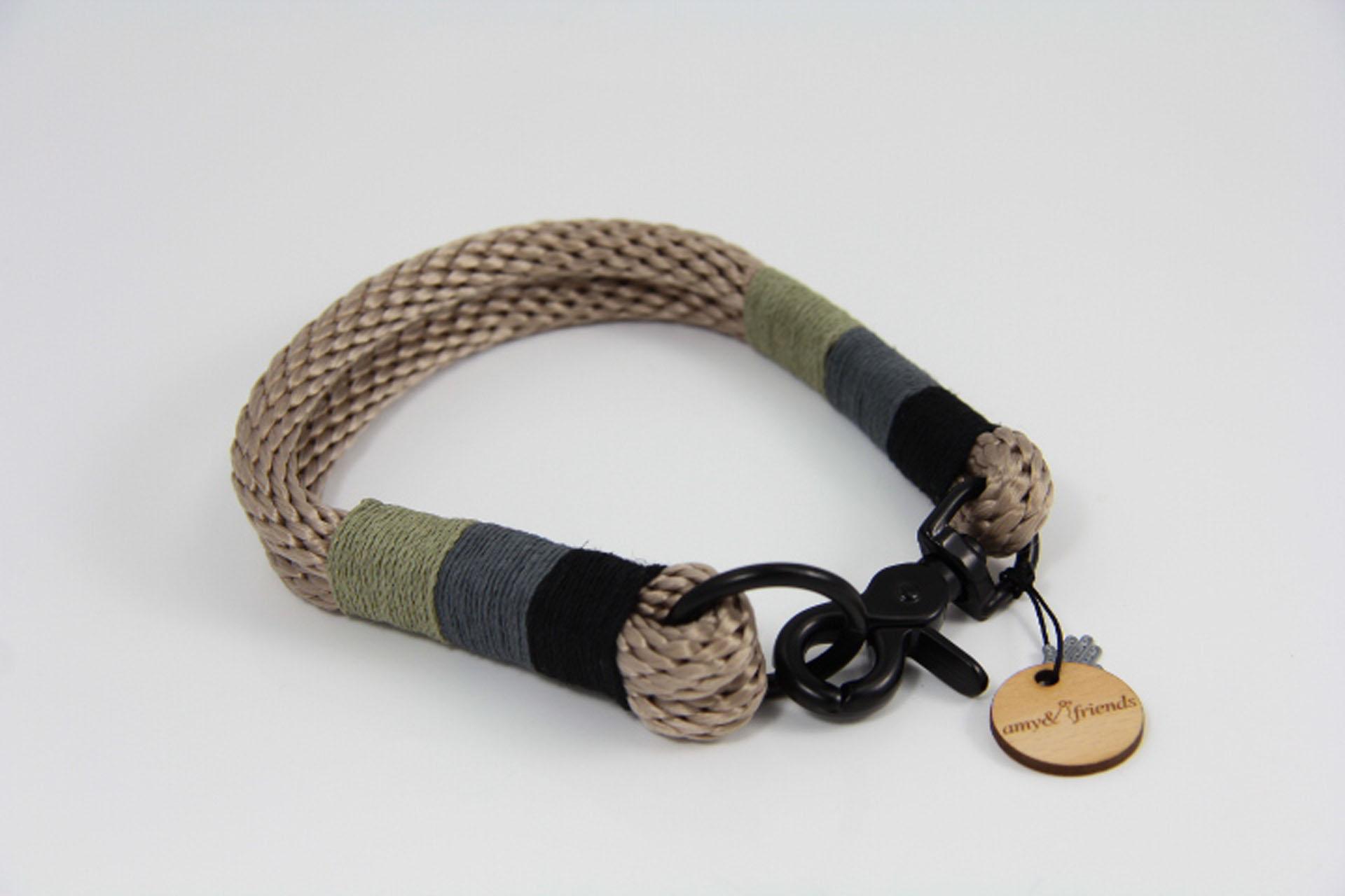 Tauhalsband-amy-and-friend-tan-schwarz-dunkelgrau-oliv
