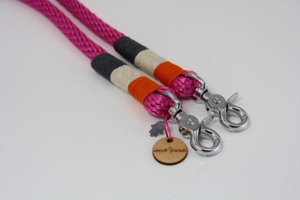 Tauleine-amy-and-friends-fuchsia-orange-silber-metallic-dunkelgrau