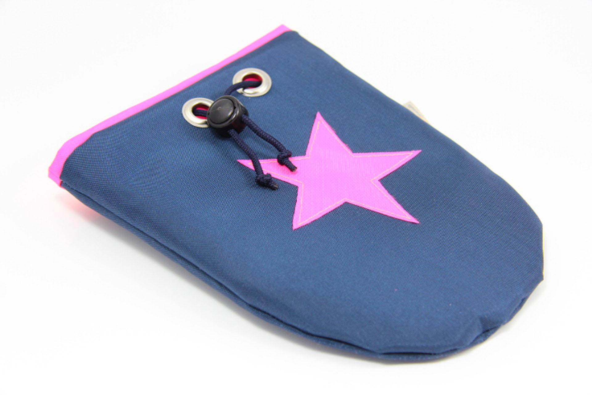 Leckerlibeutel-amy-and-friends-marineblau-neonpink