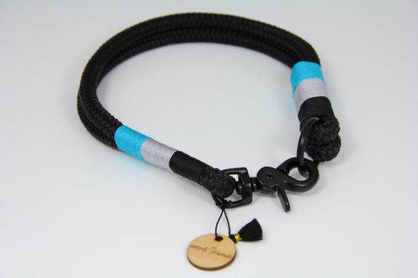 Tauhalsband-amy-and-friends-schwarz-silber-hellblau