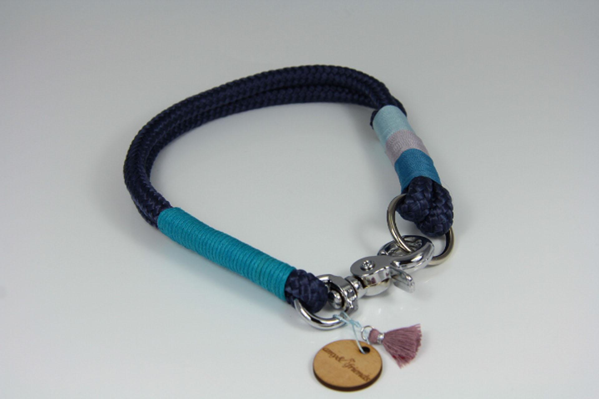 Tauhalsband-amy-and-friends-marineblau-hellgrau-hellblau-türkis-blau