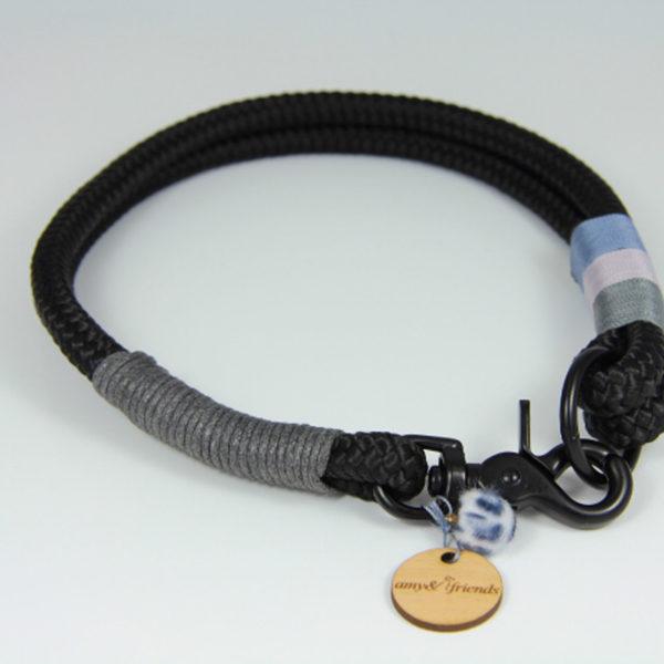 Tauhalsband-amy-and-friends-schwarz-anthrazit-flieder-jeansblau