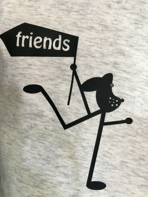 Statement-shirt-amy-and-friends-hellgrau-meliert