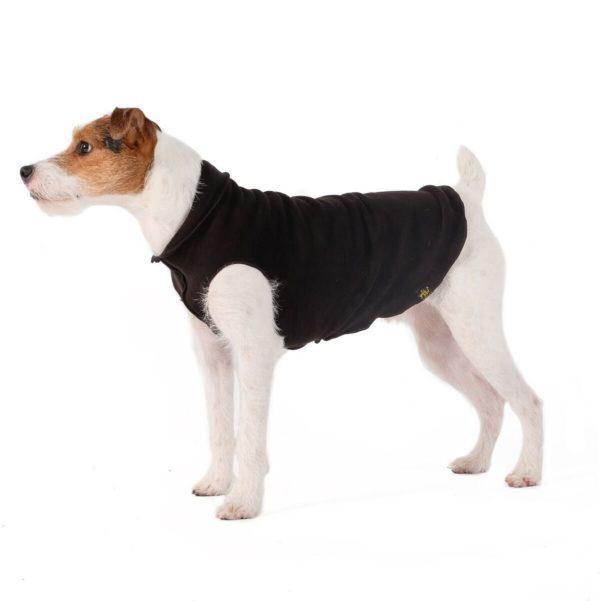 Gold Paw Double Fleece Black Hundepullover